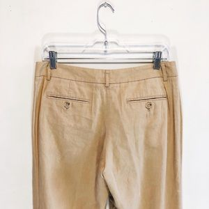 Theory linen-blend trousers